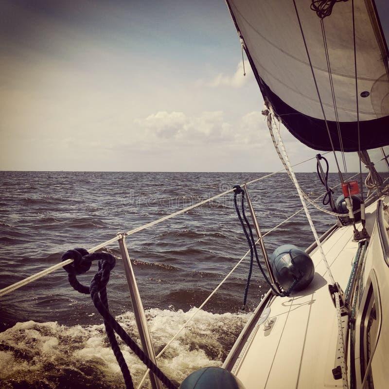 Boot Nederland van het Ijsselmeer de varende water stock foto's