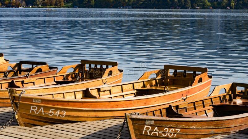 Boot op het afgetapte meer royalty-vrije stock fotografie
