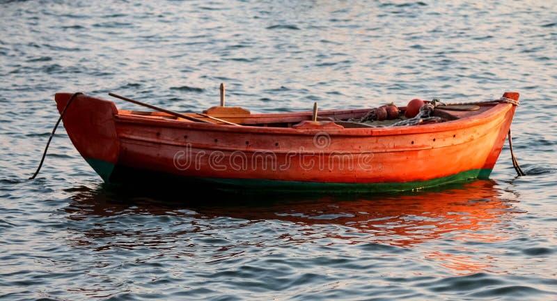 Boot op het overzees stock foto