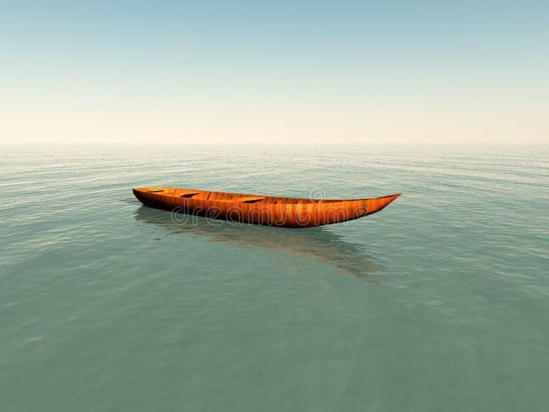 Boot op Water stock illustratie