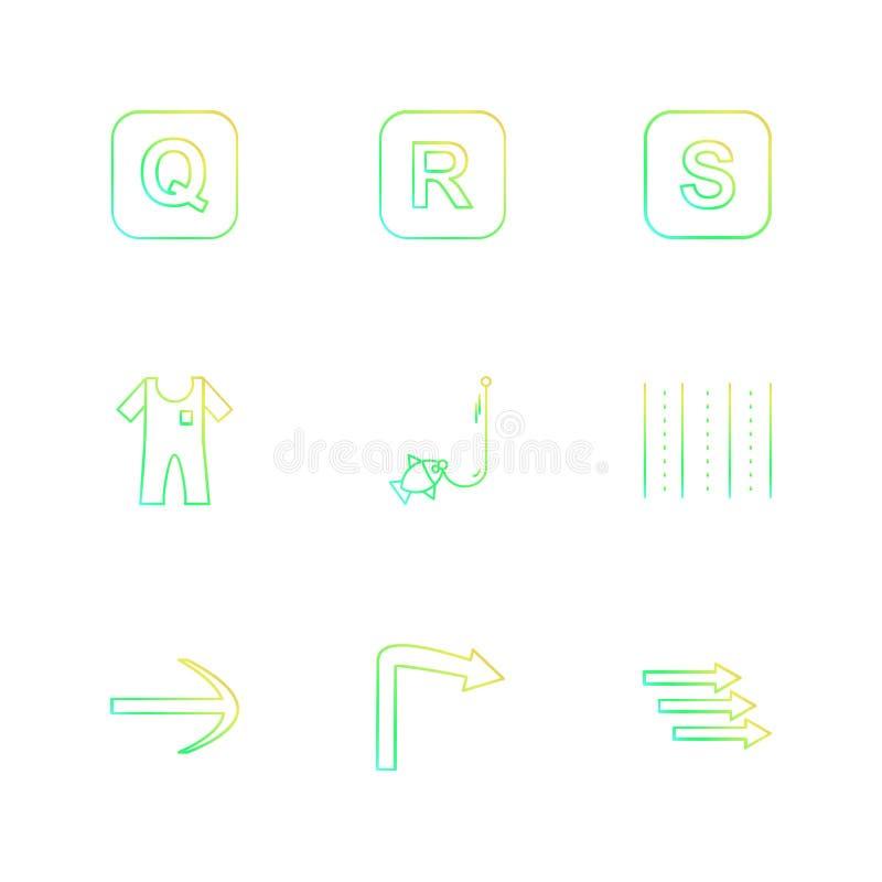 Boot, Pfeile, Alphabete, Meer, Lebensmittel, Picknick, Sommer, ENV vektor abbildung