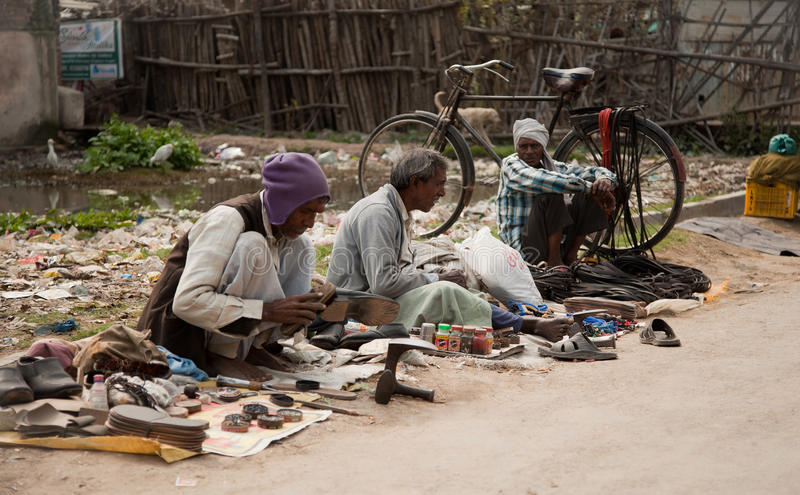 Download Boot polish at street editorial stock photo. Image of india - 25850373