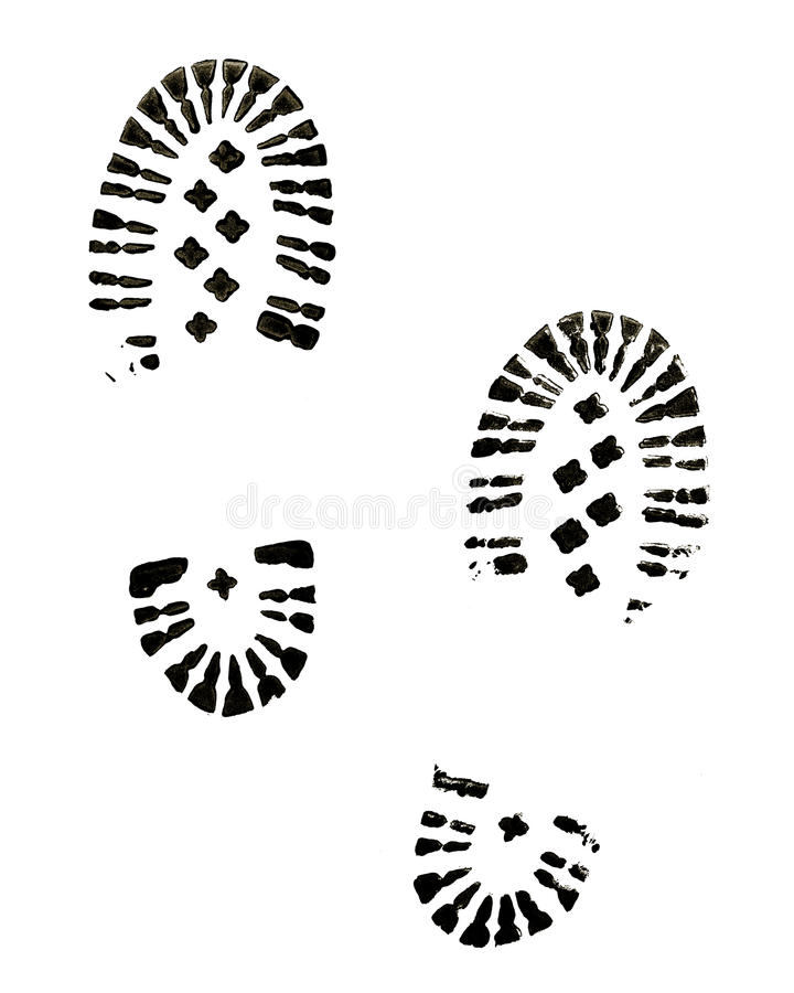Boot Prints royalty free stock photos