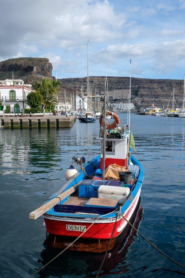 Boot in Puerto DE Mogan, stock foto