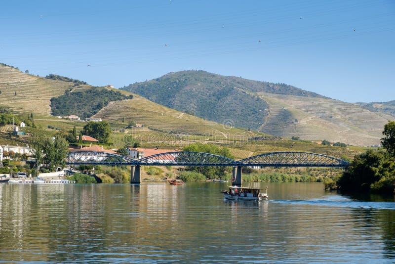 Boot Rio Douro Pinhao stock afbeeldingen