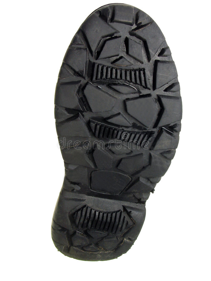 Boot sole-clipping path royalty free stock images