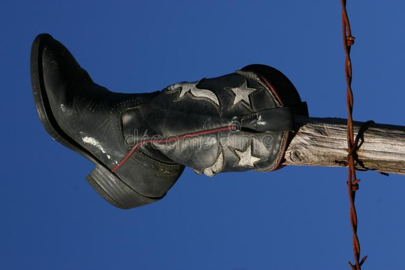 Boot on a Stick royalty free stock photos