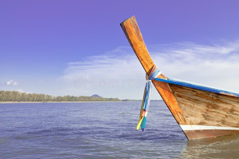 Boot am Strand. stockfoto