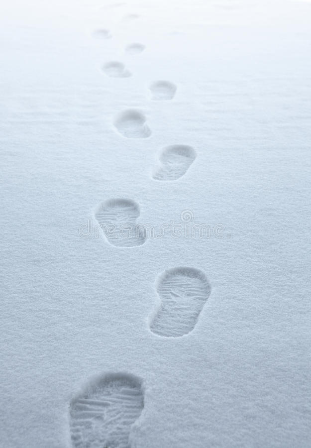 Free Boot Traces In The Snow Stock Images - 21560774