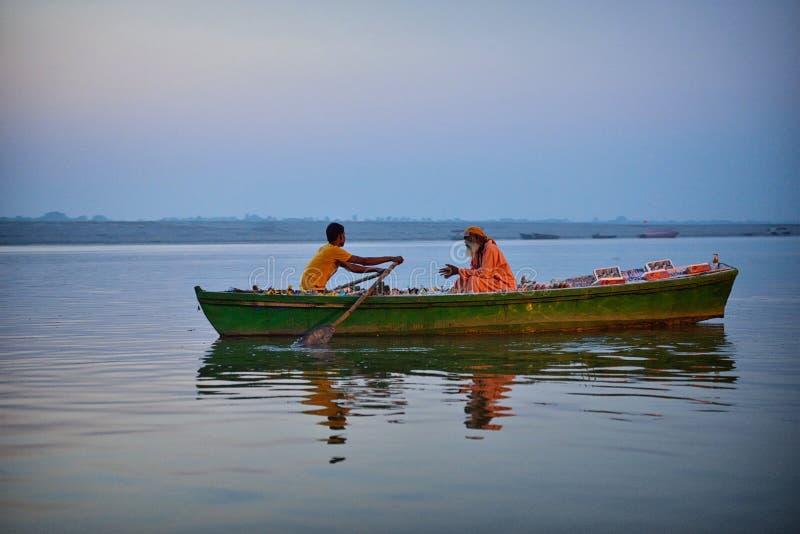 Boot in Varanasi royalty-vrije stock foto