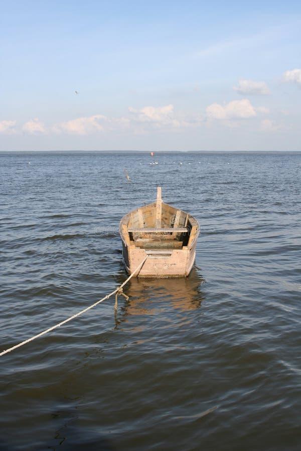 Boot in Water royalty-vrije stock fotografie