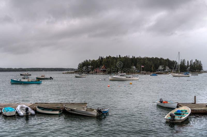 Boote auf der Insel stockbild