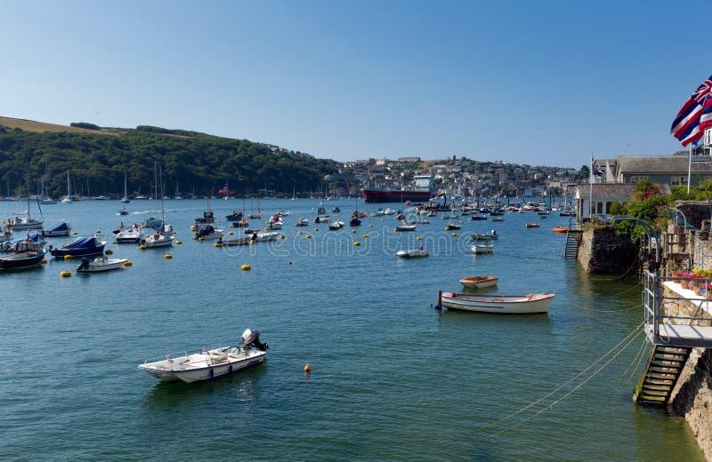 Boote auf Fowey-Fluss Cornwall England Großbritannien lizenzfreies stockfoto