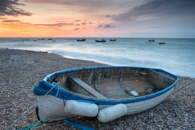 Boote bei Selsey lizenzfreie stockfotografie