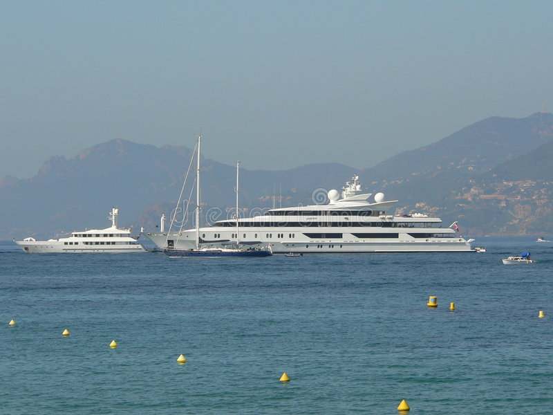 Boote in Cannes stockfoto
