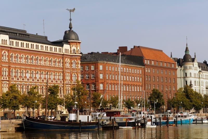 Boote in Helsinki, Finnland stockfotos