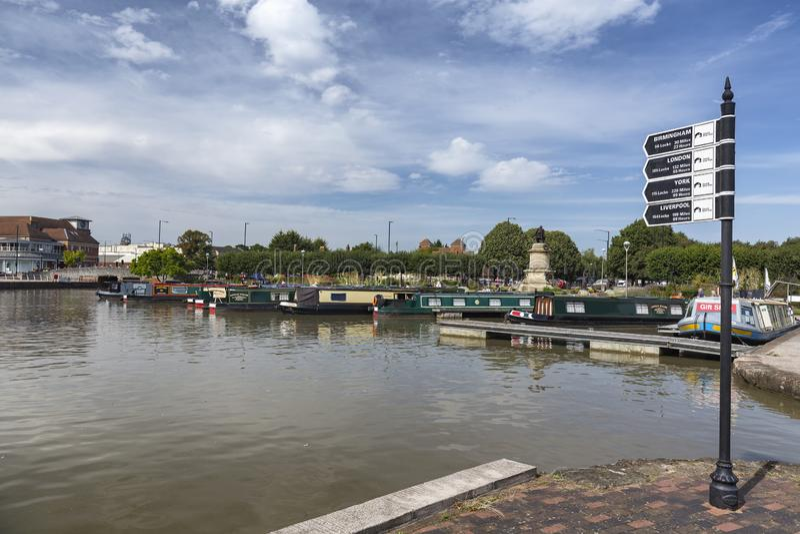 Boote im Fluss Avon lizenzfreies stockbild