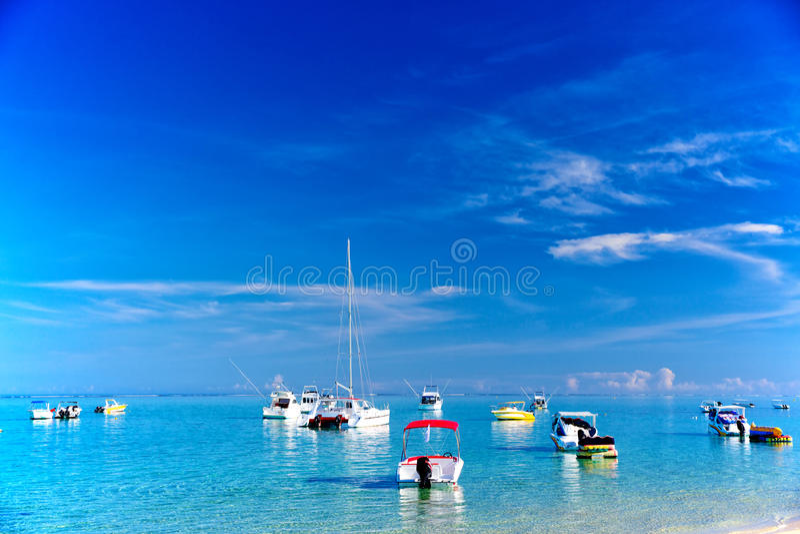 Boote in Mauritius lizenzfreie stockfotografie