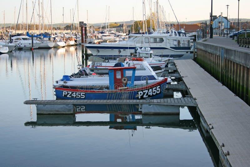 Boote morgens. lizenzfreies stockfoto