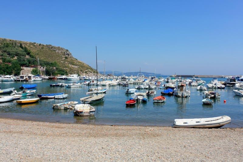 Boote Porto Ercole Italy lizenzfreie stockbilder
