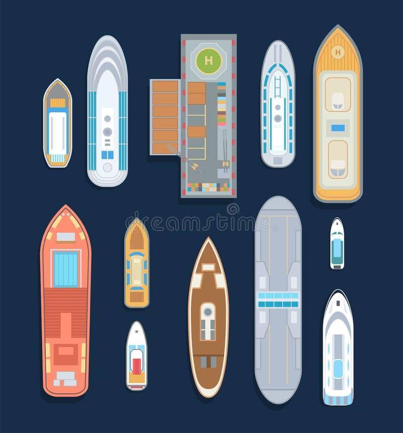 Boote - Satz moderne Vektorelemente lizenzfreie abbildung