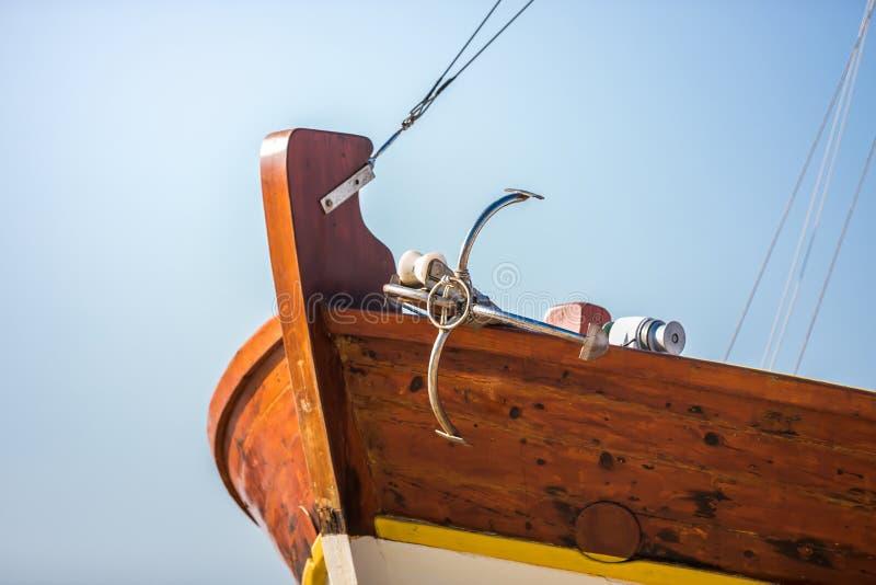 Boote und Anker lizenzfreies stockbild