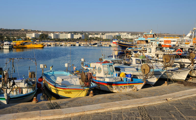 Boote und Yachten, Agia Napa, Zypern stockbilder