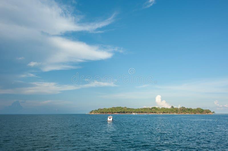 Boote verankert in Andaman-Inseln, Indien stockfotografie