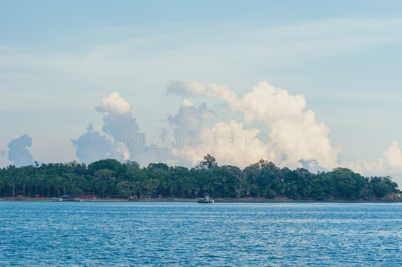 Boote verankert in Andaman-Inseln, Indien stockfotos