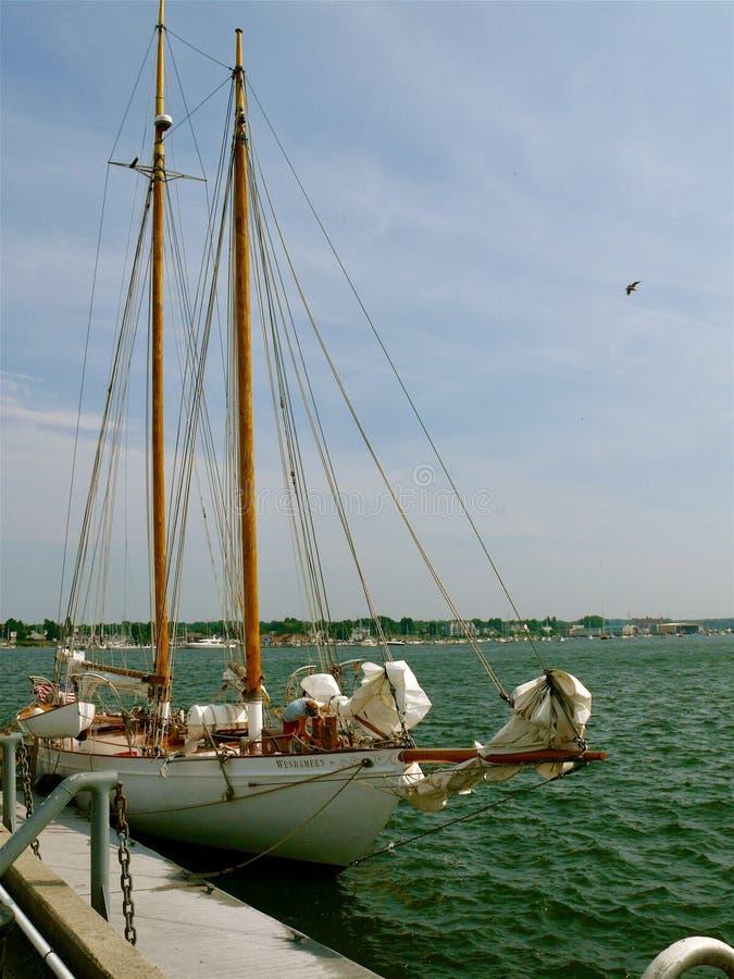 Boote von Boston-Hafen lizenzfreies stockfoto