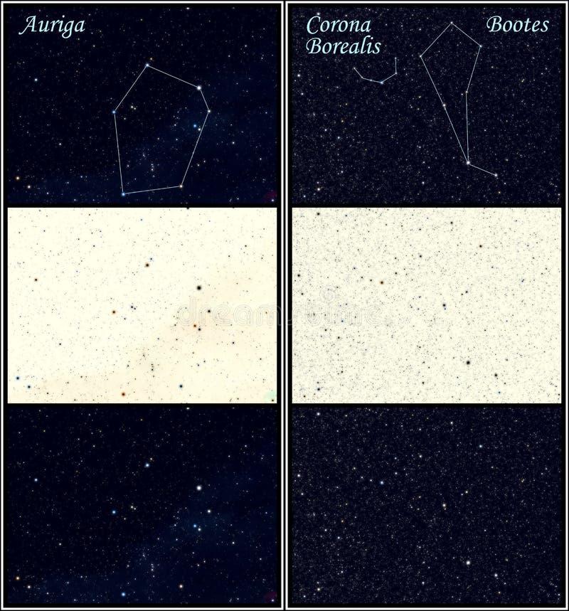 Bootes d'Auriga de constellation illustration libre de droits