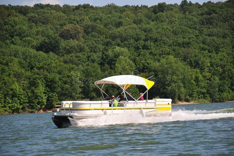 Bootfahrt in Indiana USA stockbild