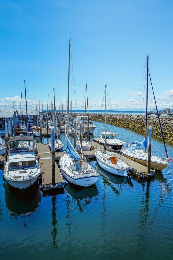 Bootfahrt in Marina Beach lizenzfreies stockbild