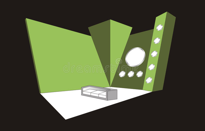 Booth Design. Beautiful booth design fairs events stock illustration