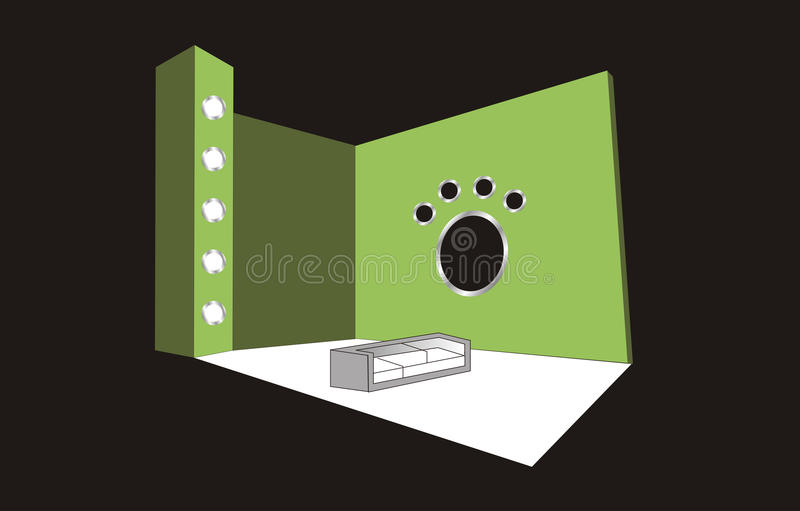 Booth Design. Beautiful booth design fairs events royalty free illustration