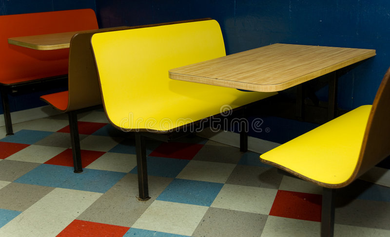 Booth At Diner Royalty Free Stock Photography