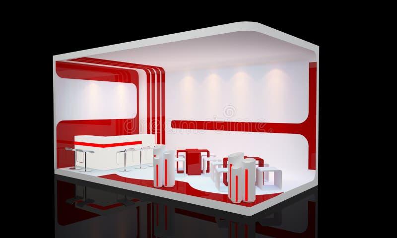 Booth exhibition. Blank modern booth exhibition design
