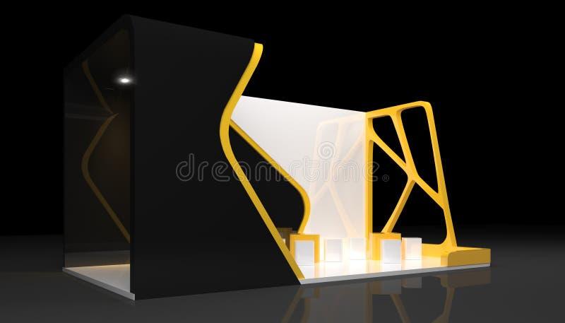 Booth exhibition. Design, 3d render stock illustration