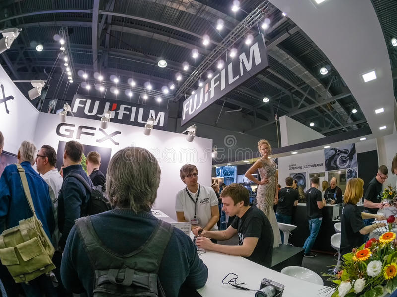 Download Booth Of Fujifilm Company At PhotoForum 2017 Trade Show Editorial Image