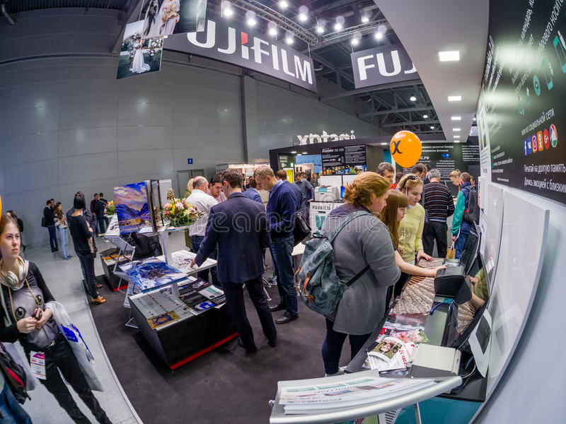 Download Booth Of Fujifilm Company At PhotoForum 2017 Trade Show Editorial Stock Photo
