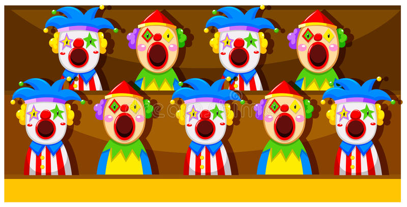 Booth Game With Clowns Stock Vector Illustration Of Lose