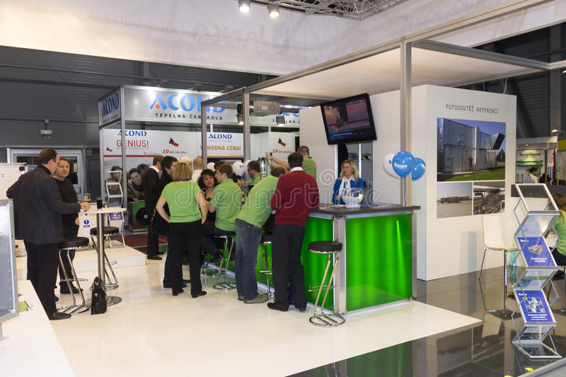 Download Booth With Personnel At AquaTherm 2012 In Prague Editorial Photo - Image: 27858666