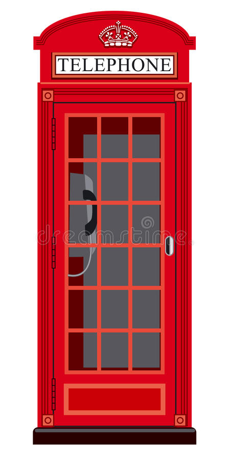 Booth phone in london. Illustration of classic english booth phone in london royalty free illustration