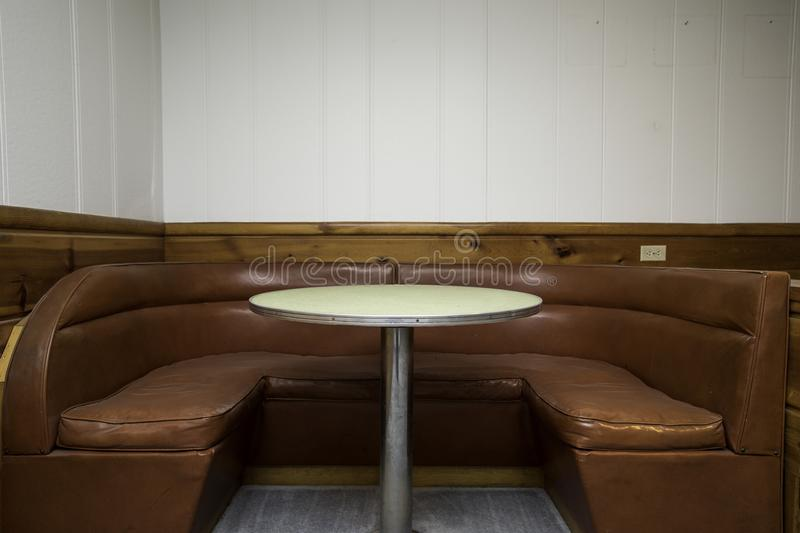 Booth Seats royalty free stock photo