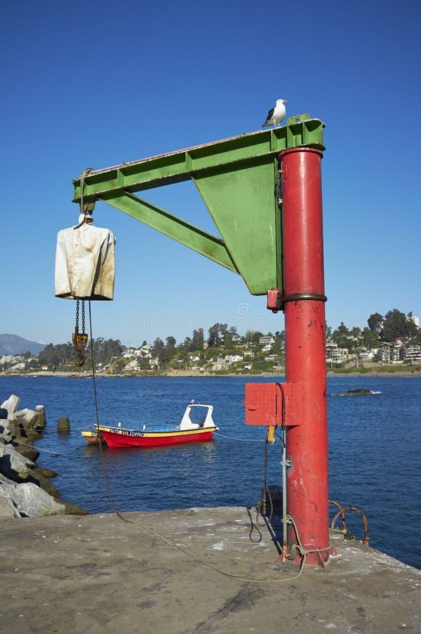 Boothijstoestel in Concon, Chili royalty-vrije stock foto
