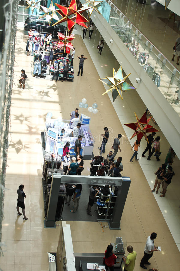 Free Booths In SM Megamall Royalty Free Stock Image - 36373556