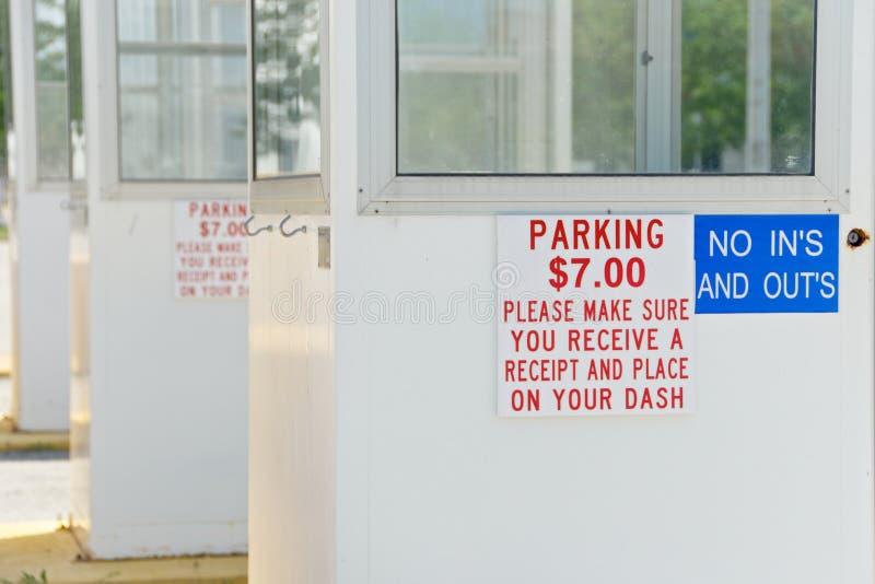 booths wydarzenia parking zdjęcia stock