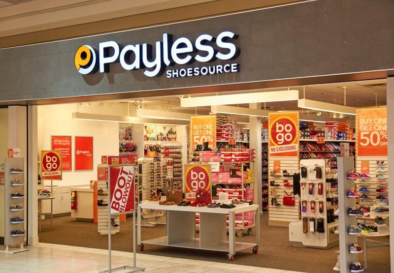 Bootique de Payless ShoeSource photos stock