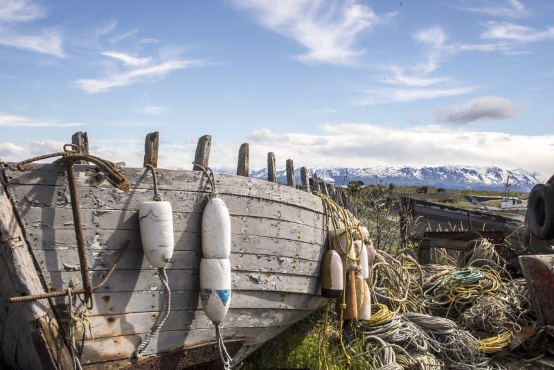 Bootkerkhof op Homer Spit stock fotografie