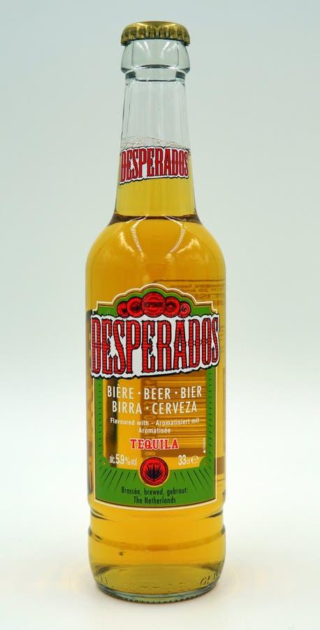 Bootle des Desperados, Tequila würzte Bier stockfotos